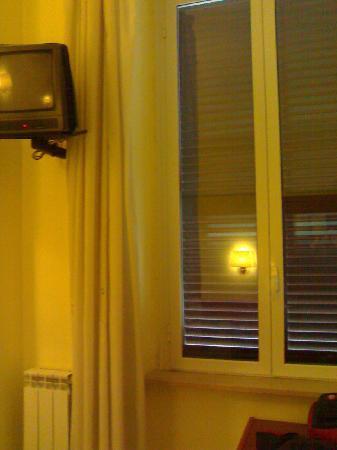 Hotel Ferrari : Ventana habitación simple