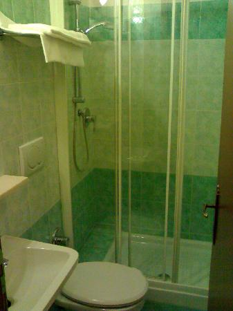 Hotel Ferrari: Baño habtación simple