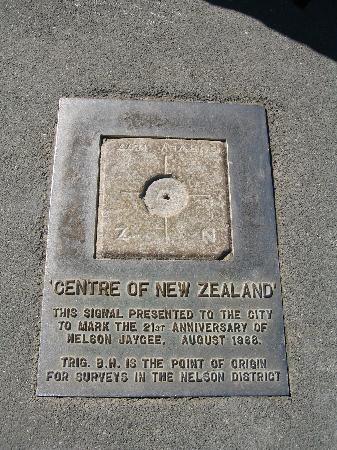 Nelson, New Zealand: Centre of New Zealand