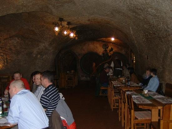 Hotel U Sladka: The underground restaurant, formerly used for storing lagers.