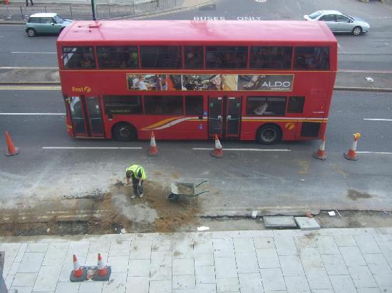 St Christopher's Inn Shepherds Bush: View from Room: Sidewalk Construction (March 2008)