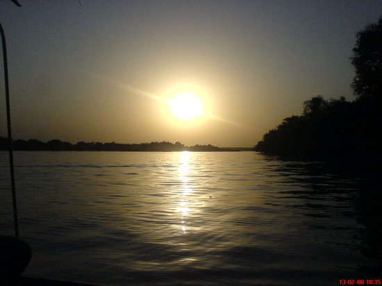 sundown over the River Gambia National Park, near Kantaur