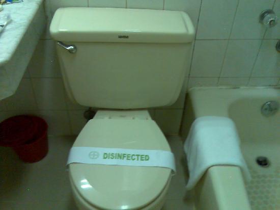 East Asia Hotel Macau: clean & disinfected toilet