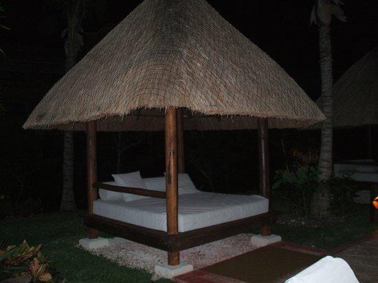 Barcelo Maya Beach: lit sur le bord de la piscine