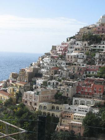 Coast Road : Positano from the bus