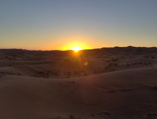 Guest House Merzouga: The sunset