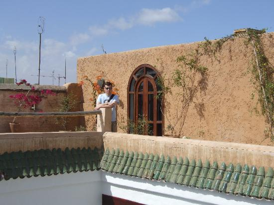 The roof terrace at Riad Tizwa