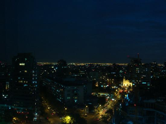 NH Collection Plaza Santiago: night view from the room