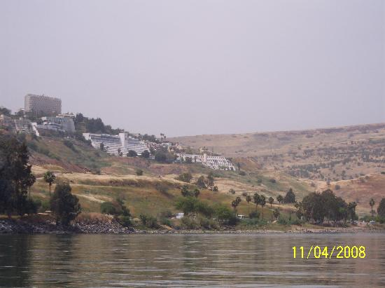 Club Hotel Tiberias: Hotel (the one in the middle)