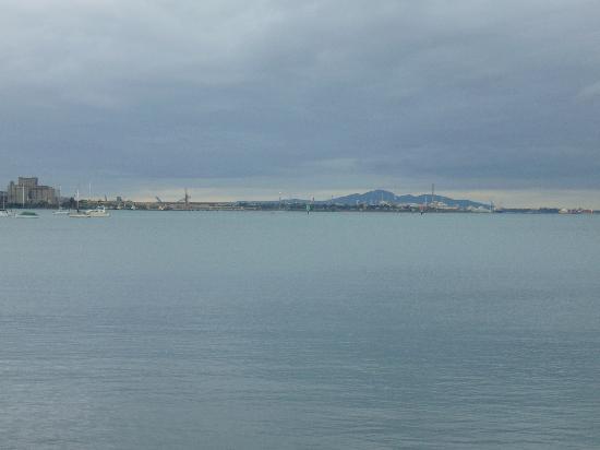 Nireeda Apartments: Looking across the harbour at Geelong