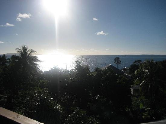 Levuka, Fiji: View from the balcony at the top of the property