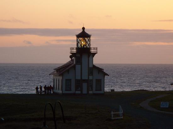 Point Cabrillo Light Station: the lighthouse at sunset