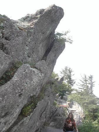 The Blowing Rock: Me beside the rock!