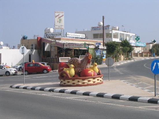 Pernera Beach Hotel: Local shops & Easter display