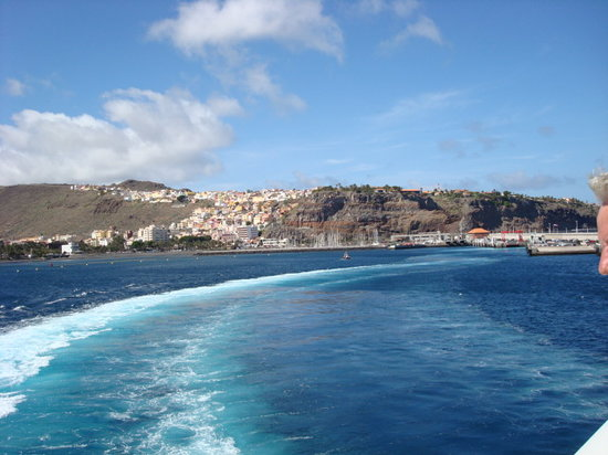 San Sebastián de la Gomera, Spanien: The Island from the Ferry
