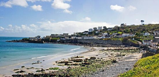 The Bay Hotel: Coverack Panorama - Bay Hotel will be to the foreground right  out of shot