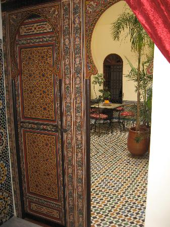 Dar Iman: Looking out onto the indoor patio