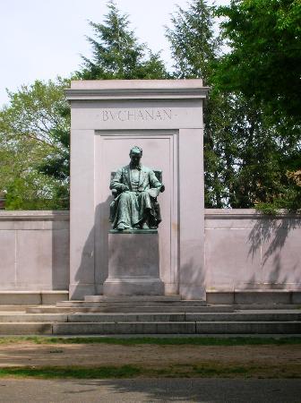 Meridian Hill Park: James Buchanan Monument