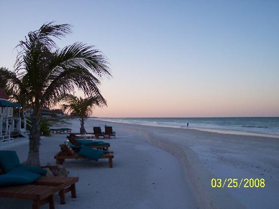 Seaside Beach Resort: A view down the beach