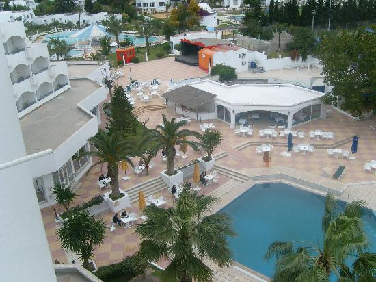 Hotel Club President: vue du 5éme étage du président