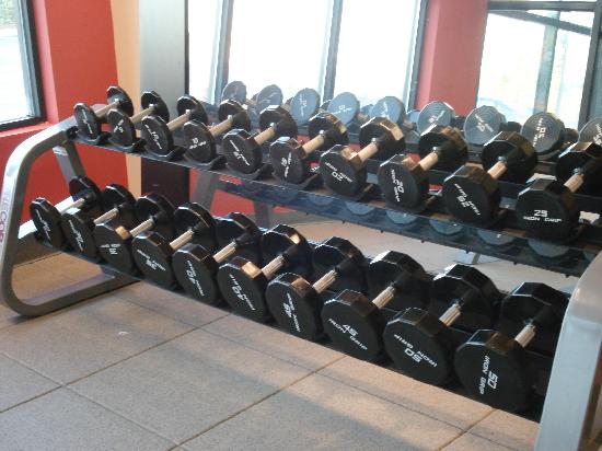 Embassy Suites by Hilton Atlanta Alpharetta: At last free weights in the fitness center