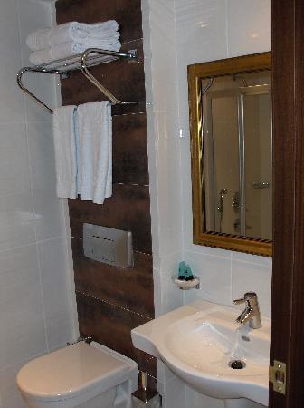 Hotel Mosaic: Bathroom - Sink & Toilet
