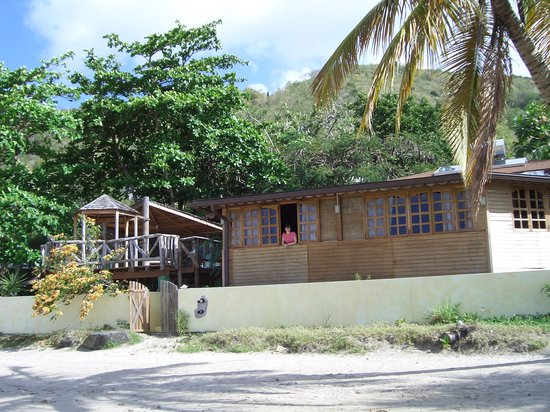 Laborie, St. Lucia: The apartment from the beach