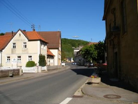 Brauerei-Gasthof Hartmann: The street view heading towards the Hartmann Brewery