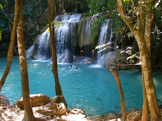 Erawan National Park, Thailand: Erawan Falls, lower tier
