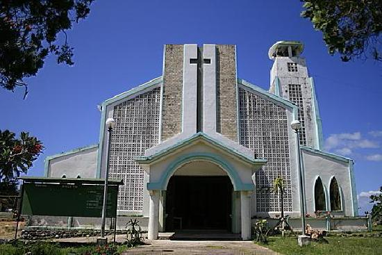 Southern Leyte Province, Filippinerna: catholic church of liloan
