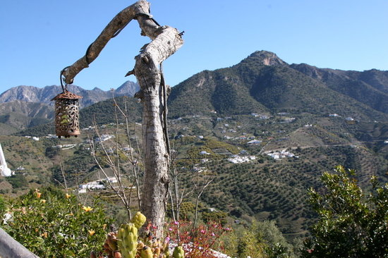 Frigiliana, İspanya: view
