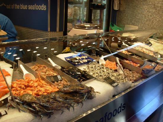 Qv gourmet market meat area picture of queen victoria for Fish market queens