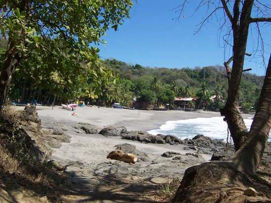Shot of the main beach beside Montezuma