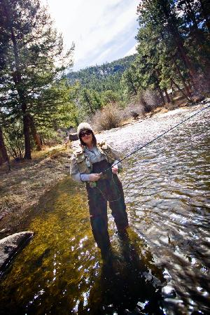 Dripping Springs Resort: fishing the Big Thompson on the Dripping Springs property