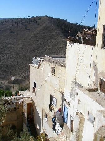 Moulay Yacoub Thermal Station: Moulay Yacoub; the spring is at the bottom of the canyon