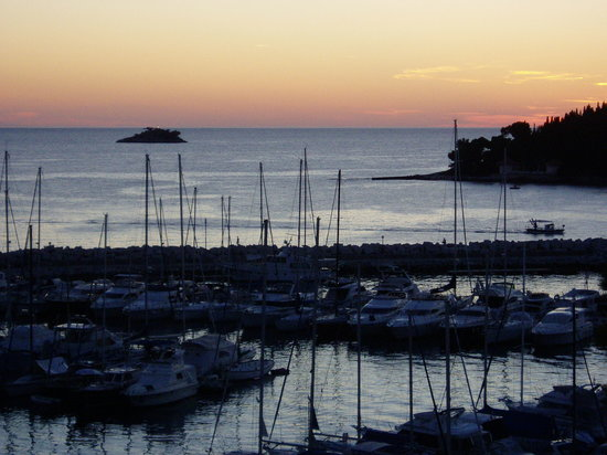 Rovinj, Croatie : view from hotel balcony
