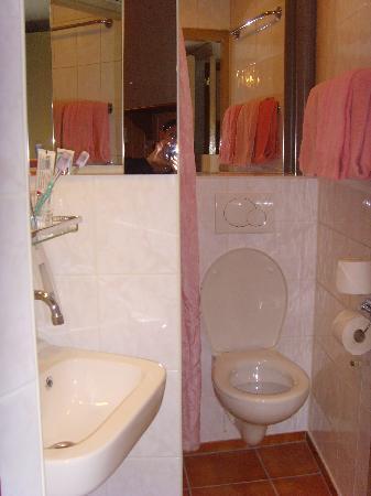 das mini badezimmer dusche ist neben dem wc bild von hotel nadia amsterdam tripadvisor. Black Bedroom Furniture Sets. Home Design Ideas