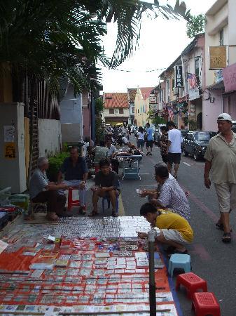Sunday morning flea market off Jonker Street