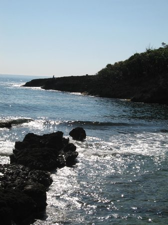 Robin's Bay, Jamaica: Looking out from Strawberry Fields beach