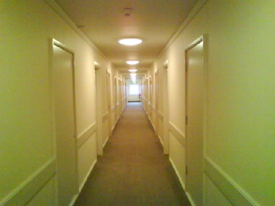 Holiday Inn Guildford: Drab fitted carpet corridor