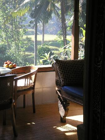 Kebun Indah: breakfast on the veranda