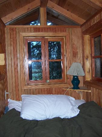 Out 'n' About Treehouse Treesort: Our quarters.  It was a little crammed.  Bring extra padding!