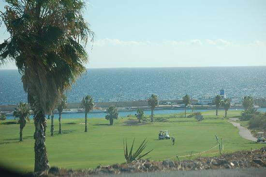 Amarilla Golf: Looking down the 13th to the sea