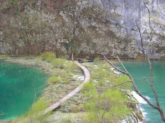 Parc national des lacs de Plitvice, Croatie : Boardwalk
