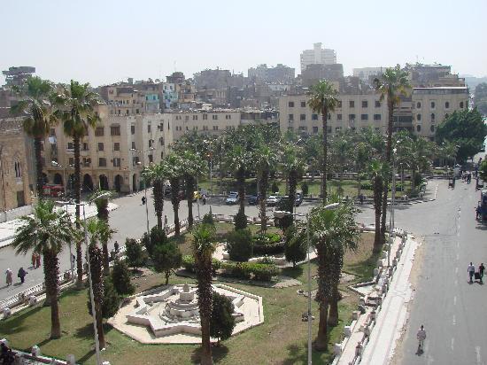 El Hussein Hotel: Blick vom Balkon