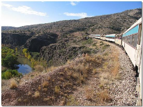 Verde Canyon Railroad: View from outdoor car