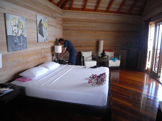 Mirihi Island Resort: a water villa room