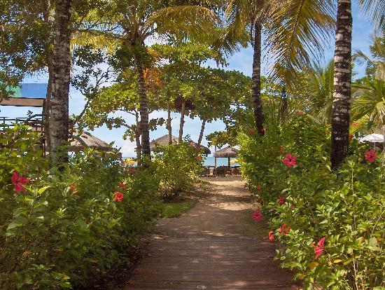 Canto d'Alvorada Pousada: The walkway to the beach