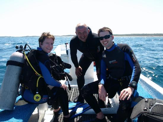 Kay-Op Divers: Trevor, Megan and Riccardo