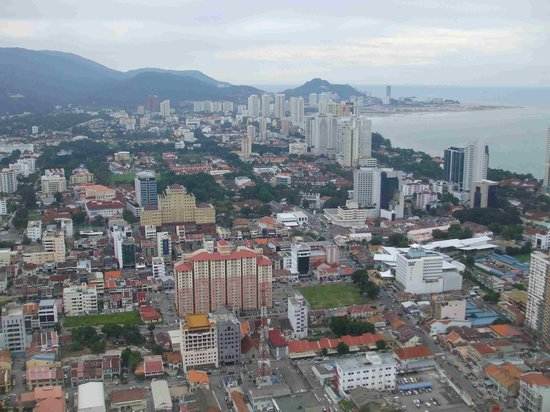 George Town, Malaysia: View of Gurney Drive and Northam road high rise buildings